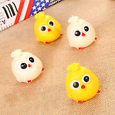 7cm Novelty Splat Egg Squeeze Stress Reliever Venting Ball Joke Squishy Toy