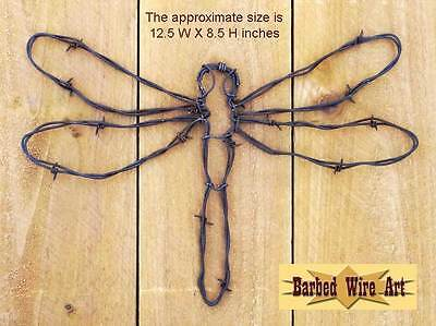 Dragonfly- sculpture metal artist US hanging barbed wire art western decor wall
