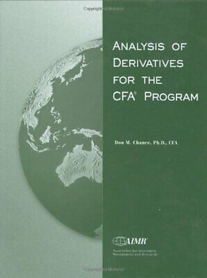 Analysis of Derivatives for the Cfa Program by Chance, Don M. Book The Cheap