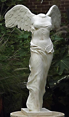 The Winged Victory of Samothrace Ancient Greek Sculpture Goddess Nike. 1 m high