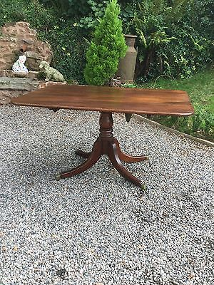 Antique Georgian Tilt Top Pedestal Table