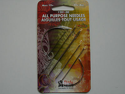 All purpose Tandy leather needles packet, curved clover's & straight 1201-00