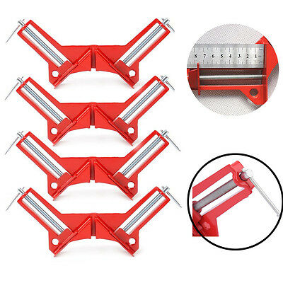 2X 4X 90 Degrees Right Angle Clamp 100mm Mitre Corner Clamp Picture Holder Tools