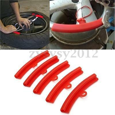 5x Red Car Tire Changer Tool Guard Rim Protector Tyre Wheel Changing Rim Edge