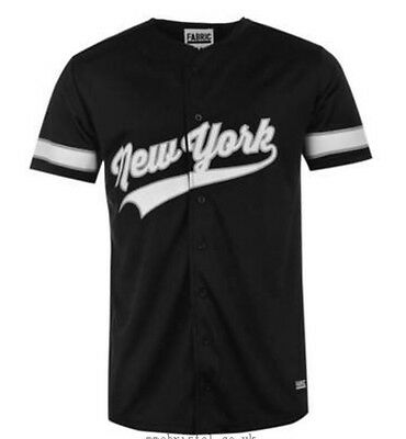 Fabric Men's NYC Baseball Shirt Black/white Large