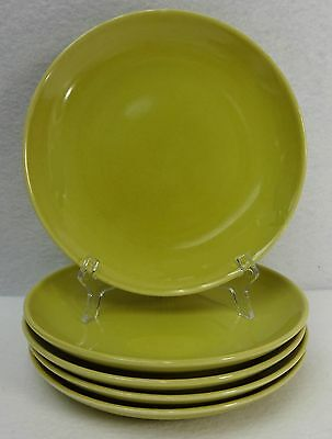 """IROQUOIS china CASUAL Avocado Yellow Bread Plate - Set of Five (5) - 6-1/2"""""""
