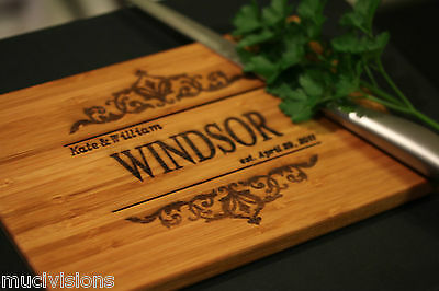 Engraved personalised chopping board