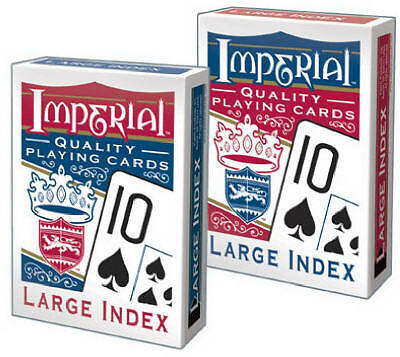 PATCH PRODUCTS, INC. Imperial Poker Playing Cards, Large Index
