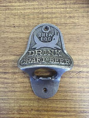 Cast Iron Bottle Opener/Wall Mounted/Heavy/Vintage/Rustic/Antiqued/BREW DOG