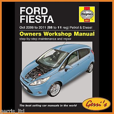 4907 Haynes Ford Fiesta Petrol & Diesel (2008 - 2011) Workshop Manual