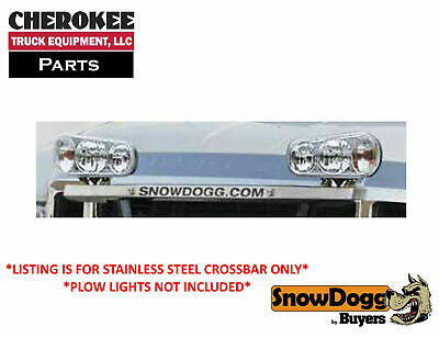 SnowDogg/Buyers Products 16111516, Small Plow Light Bracket Shroud, Stainless