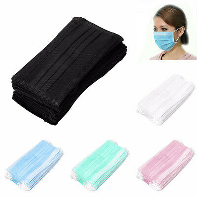 Disposable Surgical Face Dust Clean Hygienic Ear Loop Medical Mouth Masks 50pcs