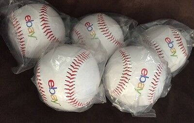 Lot Of 5 Ebay Logo Baseballs Brand New Sealed Balls With Free Priority Shipping