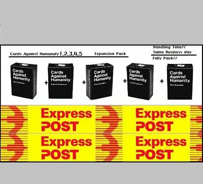 Cards Against Humanity Australian All Expansion Pack 1,2,3,4,5 lowest price