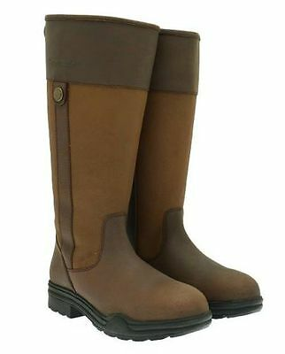 Ladies Leather Horse Riding Yard Stable Winter Outdoor Country Boots - All Sizes