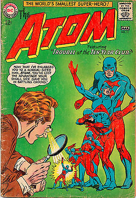 Atom #11 - Trouble At The Ten-Year Club - 1964 (Grade 4.0)