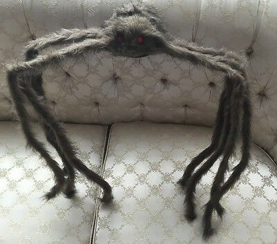 """Giant Hairy Red Eyed Spider...halloween Decoration...18"""" Tall"""
