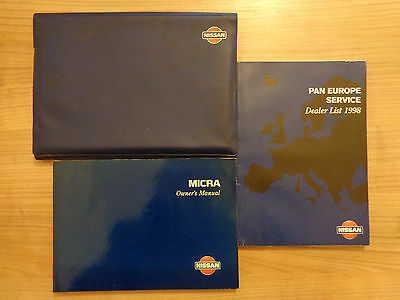 Nissan Micra Owners Handbook/Manual and Wallet 98-02