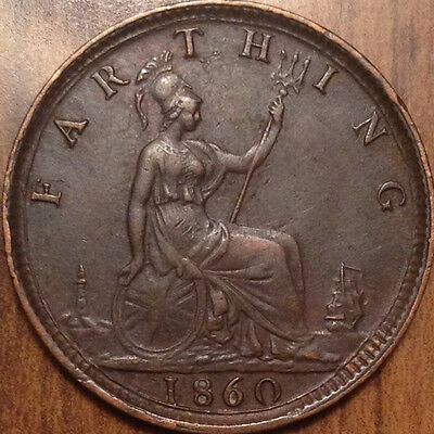 1860 Gb Farthing Better Date In Superb Condition  !