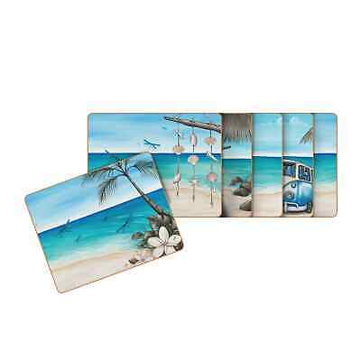 NEW Cinnamon Paddle Bliss Placemats Set of 6 (RRP $40)