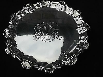 1759 George 11 salver by Hannam and Crouch nice Armorial 9ozs