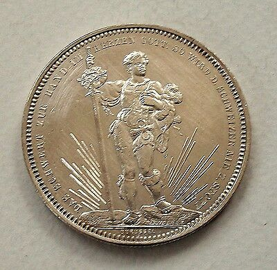 Switzerland 1879 Silver Shooting Festival Thaler (5 Francs) - Nice High Grade!