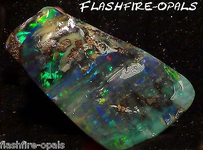 71.6ct. INVESTMENT GEM BOULDER OPAL  BRILL. ROT/GRÜN/BLAU, VIDEO FLASHFIRE-OPALS