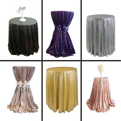 23-71 Inch Round Sparkle Sequin Spangled Tablecloth for Wedding Party Event