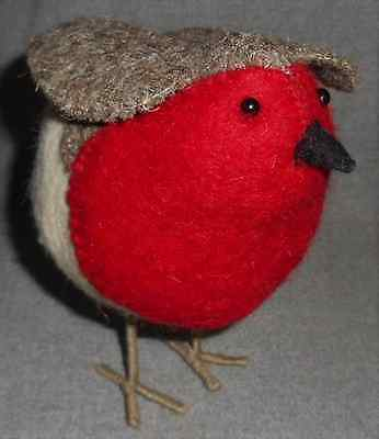 Novica RAJESH GEHLOT Wool HAND CRAFTED Red Breasted Robin CUTE!!!