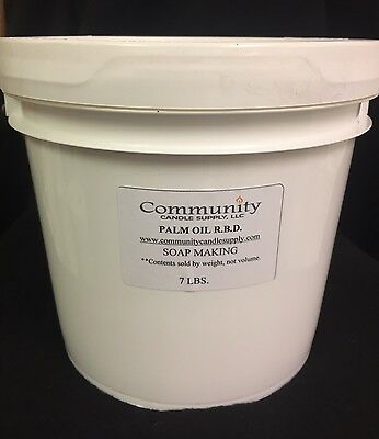 PALM Oil RBD  - 7 LBS.  For  SOAP - MULTIPLE Uses FREE Shipping!