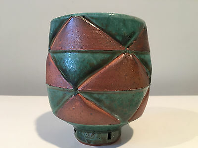 Jeff Oestreich Studio Pottery Large Yunomi Tea Cup or Tea Bowl Signed