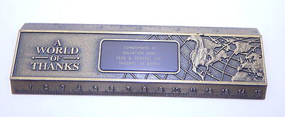 Salvation Army Award A World of Thanks Ruler 6 Inch R12566