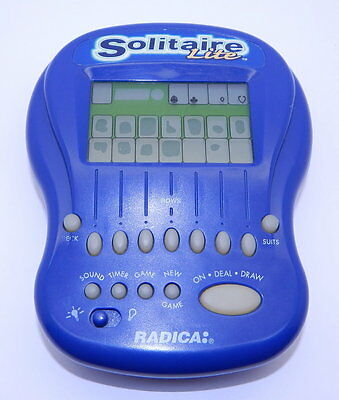 Electronic Hand-held Game Blue Radica Solitaire Lite R12664