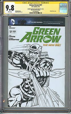 Green Arrow #17 CGC 9.8 NM/MT SIGNED & SKETCH ANDY SMITH Variant ORIGINAL SKETCH