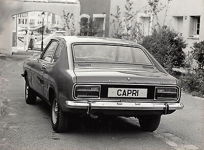 Ford Capri Mk.1 1600Gt Sept.1972, Stamped Date To Rear Period Photograph.
