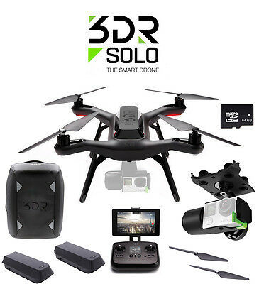 3DR Solo Quadcopter With Gimbal + Extra battery + Case and More!! Ready To Fly!!
