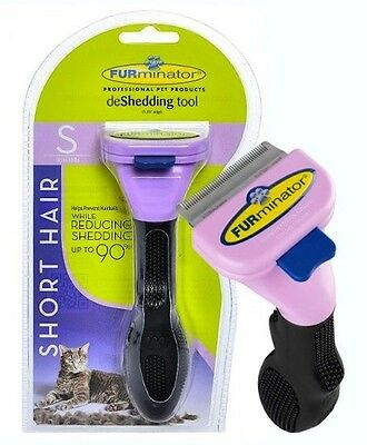 """New Furminator 1.75"""" Edge Deshedding Tool For Small Cat Short Hair Up To 10Lbs"""
