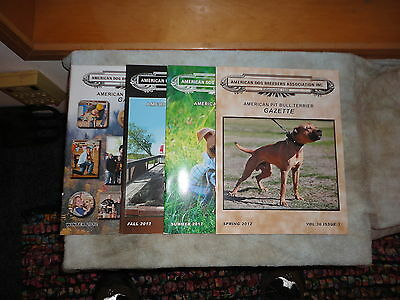American Pit Bull Terrier Gazette Full year 2012  spring,summer,fall,winter