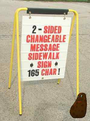 Sidewalk Sandwich Board Sign 2-sided 165 Changeable Letters