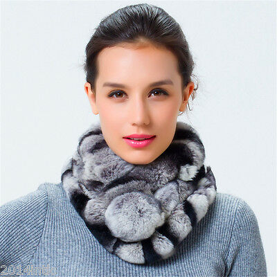 winter fashion Pure fur scarf women real rex rabbit collar SCE051
