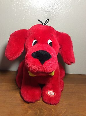 """CLIFFORD the Big Red Dog 8"""" Ear Flapping Barking Plush"""
