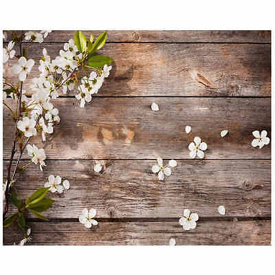 5x3FT Flower Wood Wall Backdrop Photography Vinyl Background Photo Studio Prop