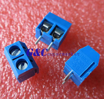 20pcs KF301-2P 2 Pin Plug-in Screw Terminal Block Connector 5.08mm Pitch J2