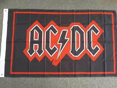 ACDC MUSIC BAND LOGO ROCK FLAG 3 x 5ft - 90cm x 150cm BAR FLAG WITH GROMMETS