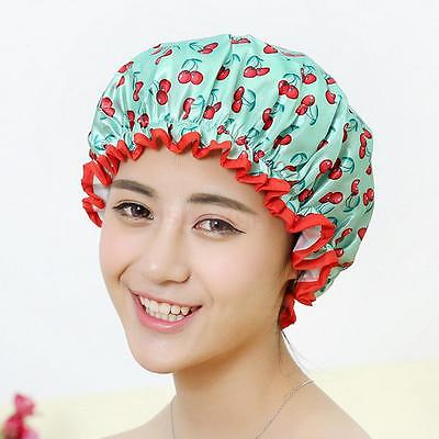 Women's Waterproof Reusable Shower Cap Bath Hat - Green