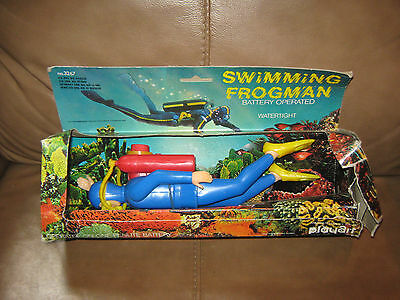 Battery Operated Swimming Frogman Made in Hong Kong in the Box!