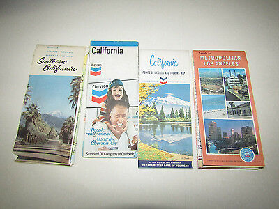 Lot of 7 California Maps Guides
