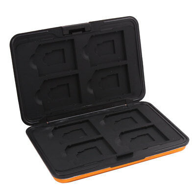 Aluminum Alloy 16 Slots SD TF Memory Card Storage Case Box Container Gold Tone