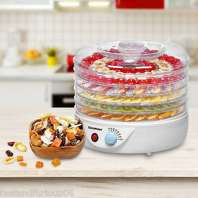 5 Tray Food Dehydrator Fruit Dryer Machine Preserver with Thermostat Control HOT