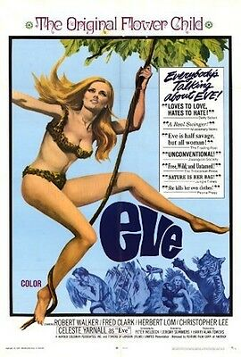 """16mm Feature """"EVE"""" (1968) THE FACE OF EVE"""" Celeste Yarnall Christopher LEE H Lom"""